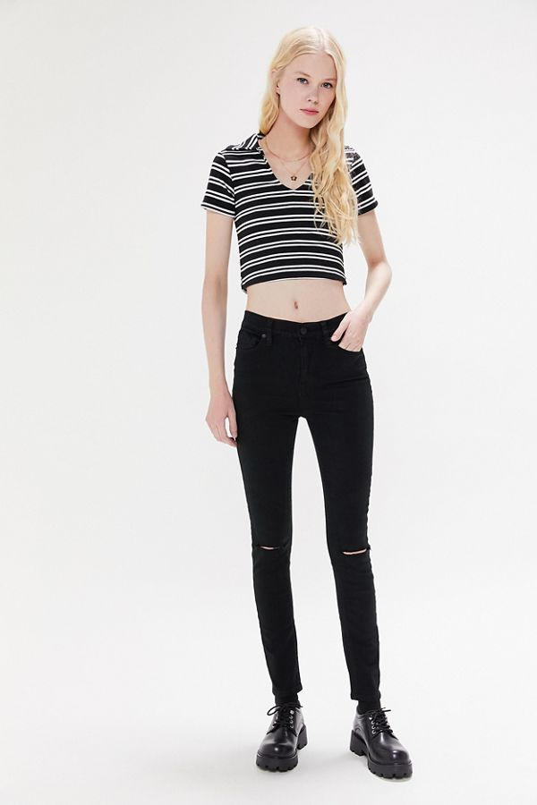 BDG Twig Ripped High Waisted Skinny Jean Black