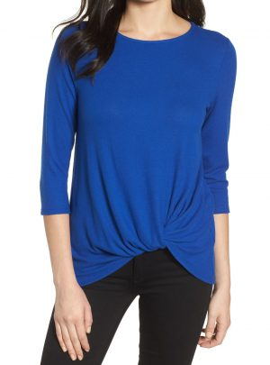 Cozy Twist Front Pullover